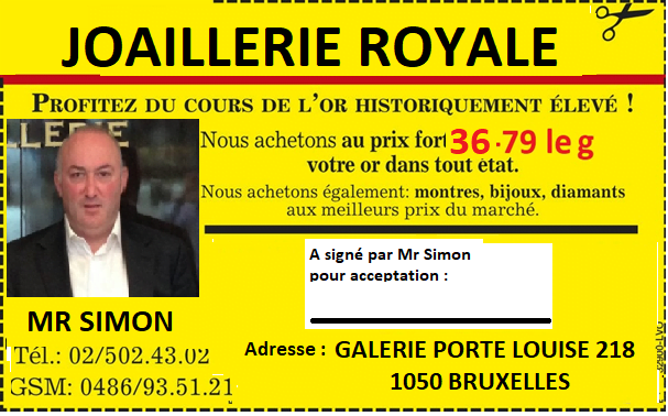 achat or, acceuil